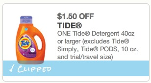 *HOT* Tide Laundry Detergent Only $1.94 a Bottle!
