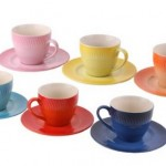 *HOT* Amazon:  Set of 6 Colorful Ceramic Espresso Cups with Saucers $6.95 Shipped (Reg. $49.95)!