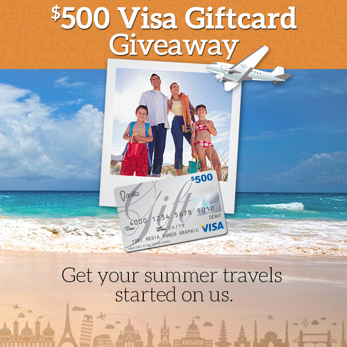 gift1 GIVEAWAY: One Reader Will Win a $500 Visa Gift Card!