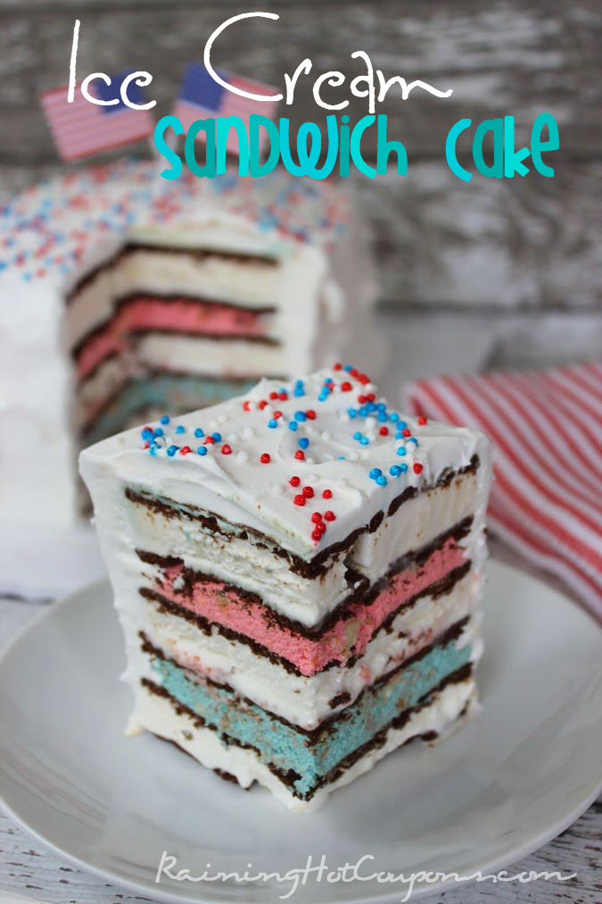 ice cream sandwich cake.png Red White & Blue Ice Cream Sandwich Cake