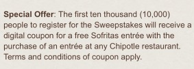 *HOT* FREE Entree Item at Chipotle (No Purchase Necessary!)