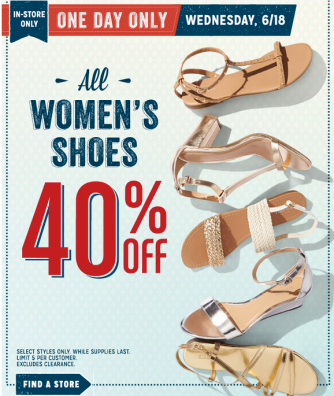 shoes Old Navy: 40% Off All Women's Shoes Today Only!