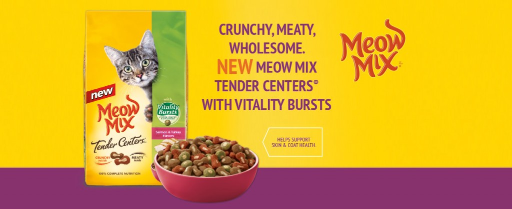 top image 1024x419 FREE Meow Mix Tender Centers Cat Food Sample