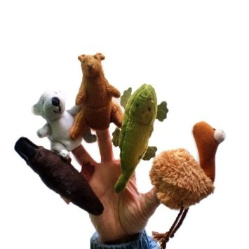 41 Npfpbe0L. SY355  Amazon: 5 Piece Australia Animal Finger Puppets Only $5.34 Shipped