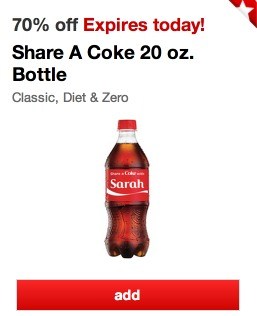 *HOT* 70% off Coke, Diet Coke or Coke Zero 20oz Bottles (First 25,000!)