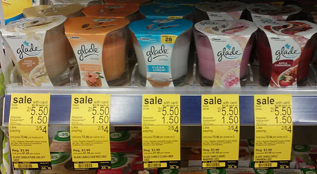 Glade Candles 37 cents Walgreens: Glade Candles Only $0.37