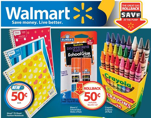 Walmart Back to School Sales Walmart Back to School Deals 7/14/14