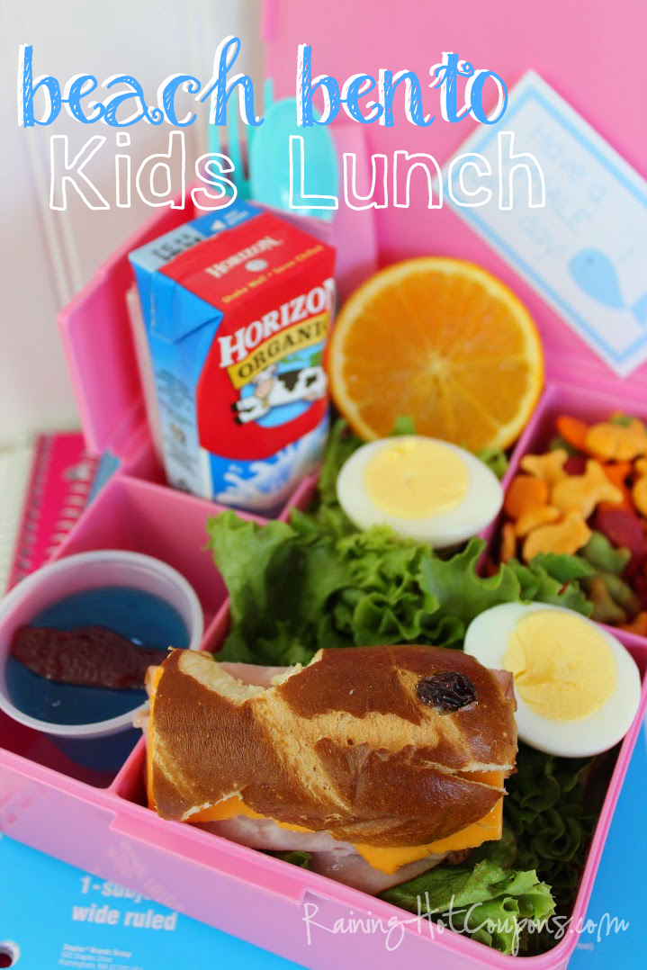 bento fish.png Beach Theme Ham and Cheese Bento Kids Lunch Idea
