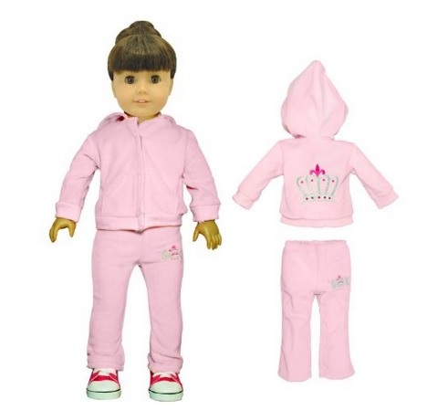 Amazon: American Girl Doll Clothes   2 piece Set Pink Sweatsuit And Jacket Only $9.97 (Reg. $34.99)!