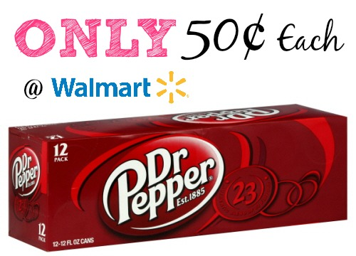 dr *HOT* Dr Pepper 12 Packs Only $0.50! (Get up to FIFTEEN 12 Packs!)