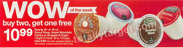 k cups deal Target: Eight O'Clock K Cup Coffee Only $0.29 per Cup (Starting 7/27)
