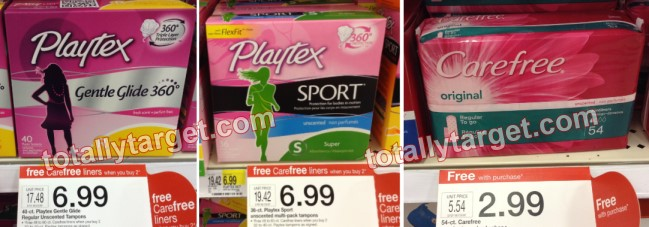 Playtex, Carefree, and Speedstick