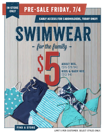 sale *HOT* Old Navy: Swimwear for the Entire Family Only $5 (Reg. $19.95!)