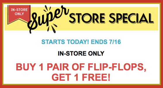 screen shot 2014 07 14 at 5 55 12 am Old Navy: Buy 1 Pair of Flip Flops and Get 1 Pair FREE (In Store Only)