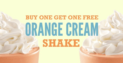 Arbys: Buy 1 Orange Cream Shake, Get 1 Orange Cream Shake FREE Coupon!