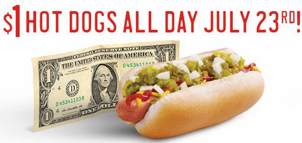 sonic Sonic: $1 All American Hot Dogs and Chili Cheese Coneys ALL DAY! (No Coupons Needed!)