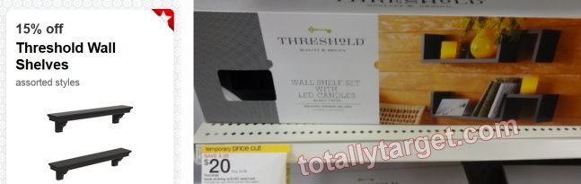 threshold cartwheel Target: Threshold Shelves Deal