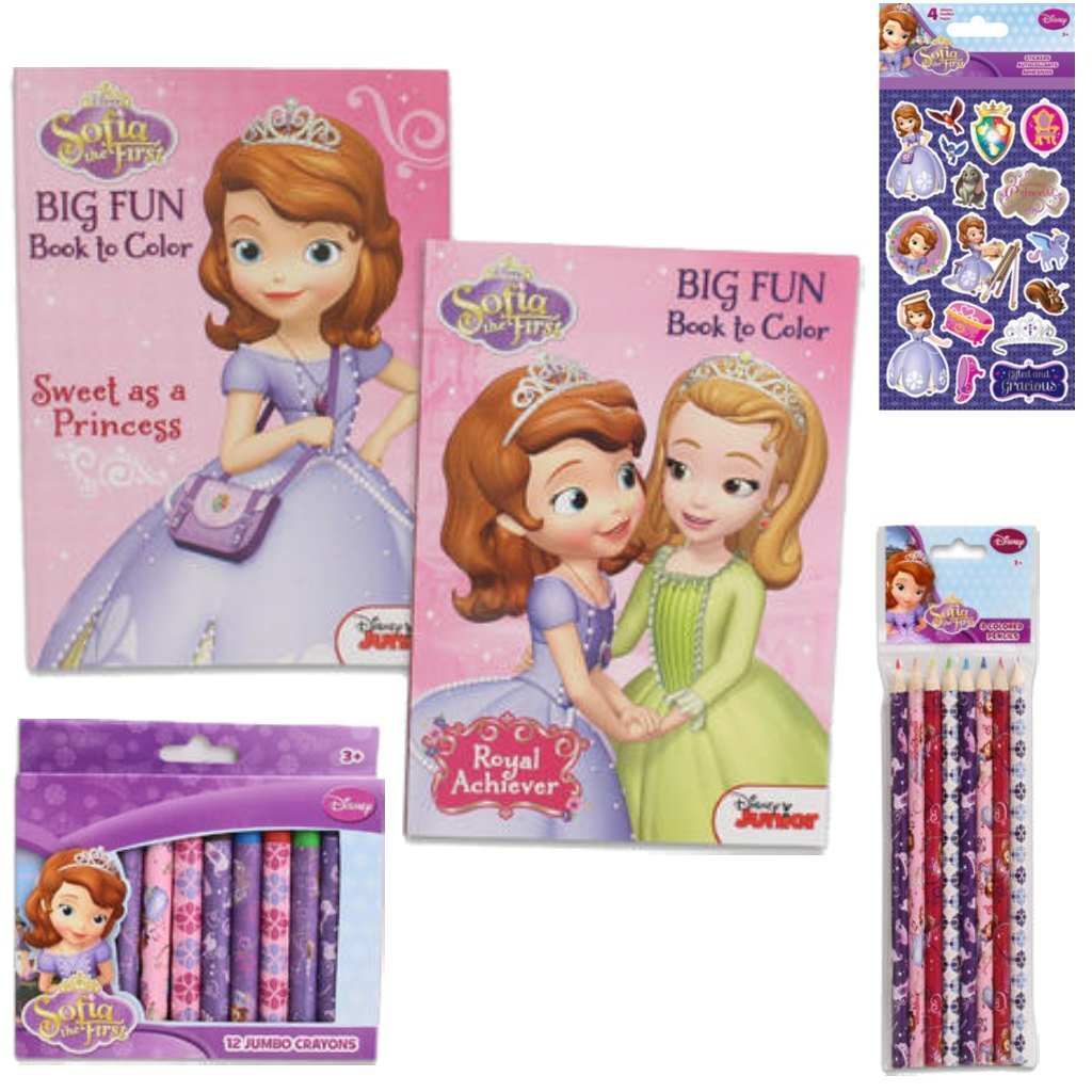 disney jr sofia the first ultimate coloring book value pack gift set - First Coloring Book