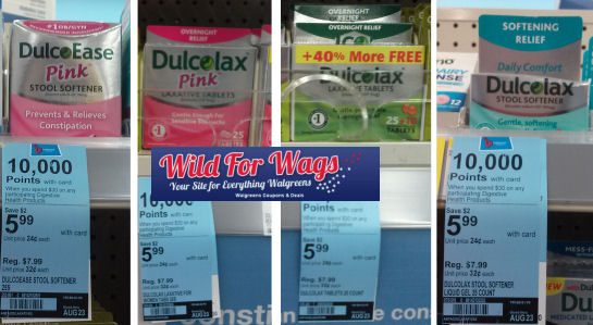 Walgreens Dulcolax Alka Seltzer Products Only 116 Last Day