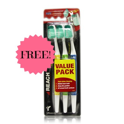 Reach FREE Reach Toothbrushes at Rite Aid, Beginning 8/17