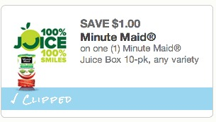 *HOT* Minute Maid Juice Boxes 10pk Only $0.98! (Perfect for Back to School Lunches!)