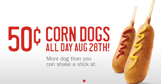 Sonic: Corn Dogs Only $0.50 (ALL DAY LONG)