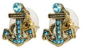 crystal anchor earrings 300x170 Crystal and Gold Anchor Earrings Only $3.09 Shipped!