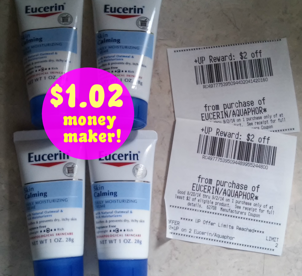 eucerin *HOT* 4 FREE Eucerin Lotions + Money Maker!