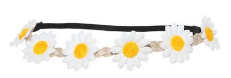 Bohemian Braided Daisy Stretch Headband