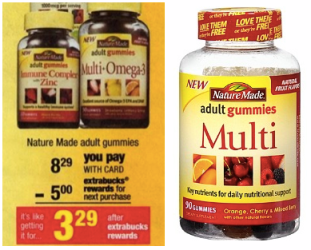 multi *HOT* Nature Made Adult Gummies Only $1.29 at CVS (Reg. $8.29!)