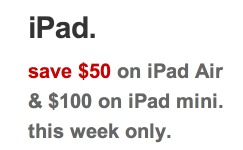 *HOT* Apple iPad Mini Only $199 Shipped (Reg. $300!) AND $50 Off iPad!