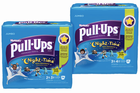 pull *HOT* Target: Huggies Pull Ups Night Time Training Pants JUMBO Package Only $2.99!