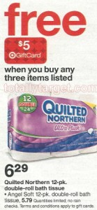quilted northern1 1 139x300  *HOT* Deals on Angel Soft & Quilted Northern Toilet Paper at Target, Beginning 8/31