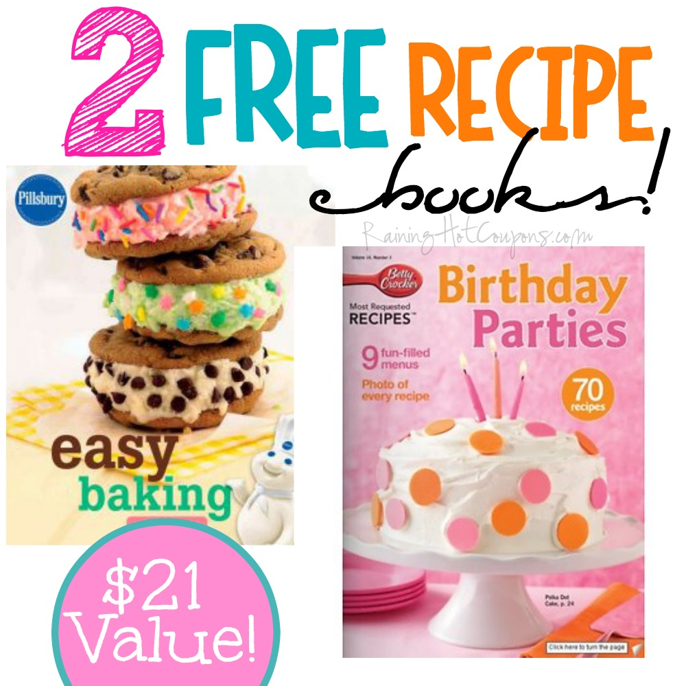 recipes.jpg *HOT* FREE Pillsbury AND Betty Crockers Best Recipes ebook ($21.98 Value!) + FREE Large Samples and more!