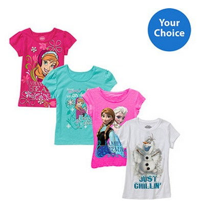 Disney Frozen Girls Graphic Tees In Stock Only $6.97 Shipped!