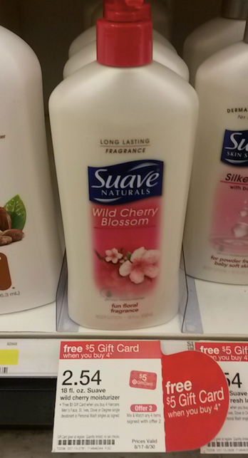 target1 *HOT* Target: Suave Naturals LARGE Lotion Bottles Only $0.04 each!