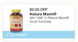 *HOT* Nature Made Adult Gummies Only $1.29 at CVS (Reg. $8.29!)