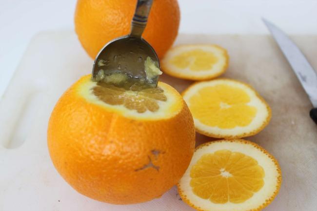 318 Jack O Lantern Orange Fruit Cups