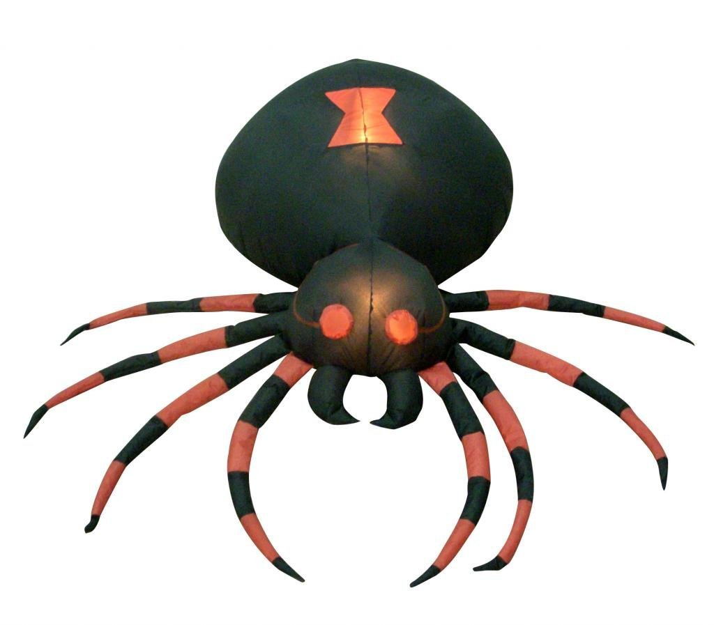 Amazon: 4 Foot Wide Halloween Inflatable Black Spider Yard ...