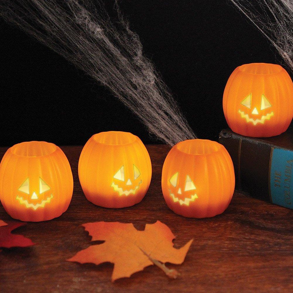 71ttpLVF4VL. SL1500  Amazon: Halloween Jack O Lantern Tea Lights Set of 4 Only $13.96 Shipped