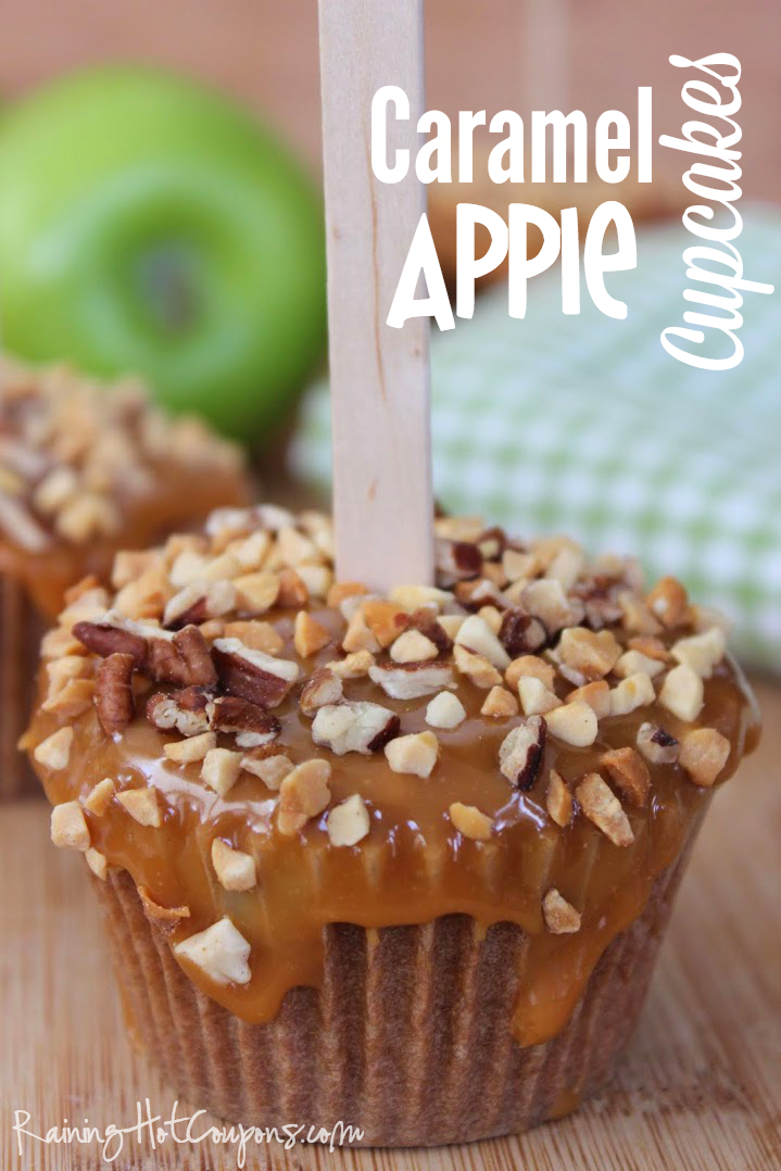 caramel apple cupcakes Caramel Apple Cupcakes