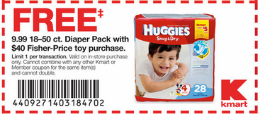 diapers *HOT* Deals on Fisher Price Toys + FREE Package of Huggies Diapers!