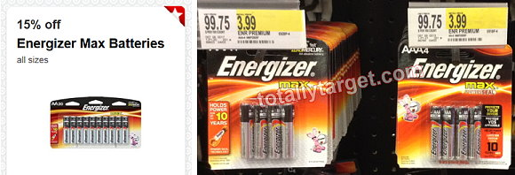 energizer target deal Target: Energizer Batteries AA or AAA 4 Pack Only $1.54