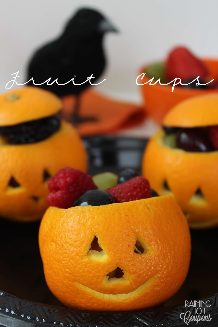 fruit cups Jack O Lantern Orange Fruit Cups