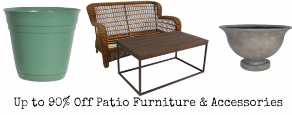Hot lowe s 90 off patio furniture more for Furniture 90 off