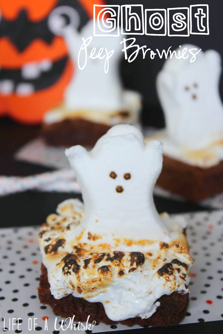 ghost peep brownies