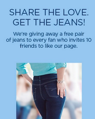 FREE Pair of Riders by Lee JEANS!