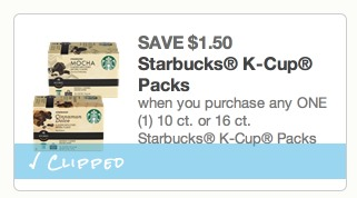 *HOT* Starbucks K Cup Coffee Only $0.32 per K Cup (Stock Up Deal!)