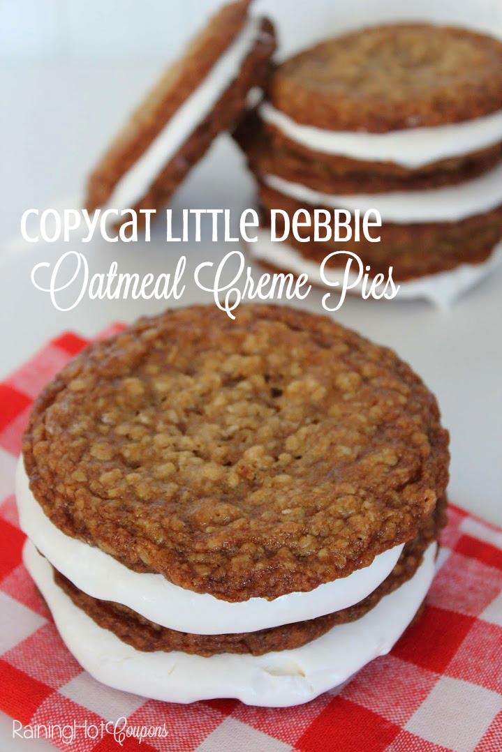little debbie creme pies Copycat Little Debbie Oatmeal Creme Pies