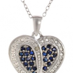 Amazon: Sterling Silver Sapphire and Diamond Accent Heart Pendant Necklace Only $13.83 (Reg. $79)